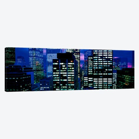 Downtown buildings Toronto Ontario Canada Canvas Print #PIM476} by Panoramic Images Canvas Wall Art