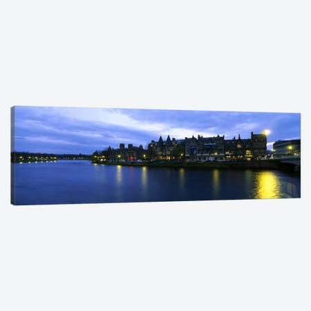 Buildings On The Waterfront, Inverness, Highlands, Scotland, United Kingdom Canvas Print #PIM4777} by Panoramic Images Canvas Art
