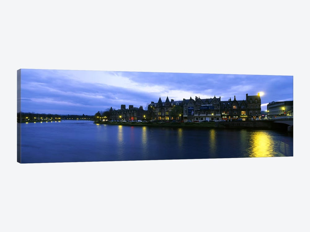 Buildings On The Waterfront, Inverness, Highlands, Scotland, United Kingdom by Panoramic Images 1-piece Canvas Art Print