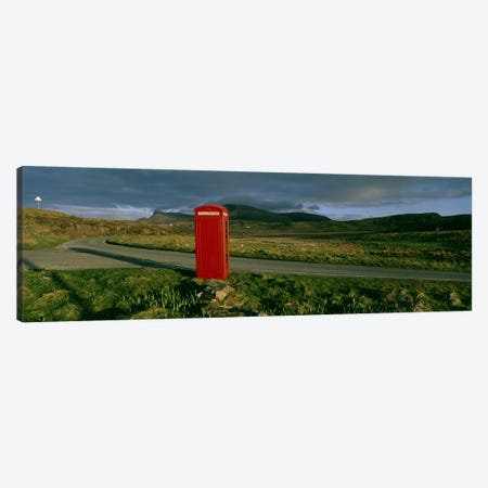 Red Telephone Booth, Isle Of Skye, Inner Hebrides, Scotland, United Kingdom Canvas Print #PIM4779} by Panoramic Images Canvas Art Print