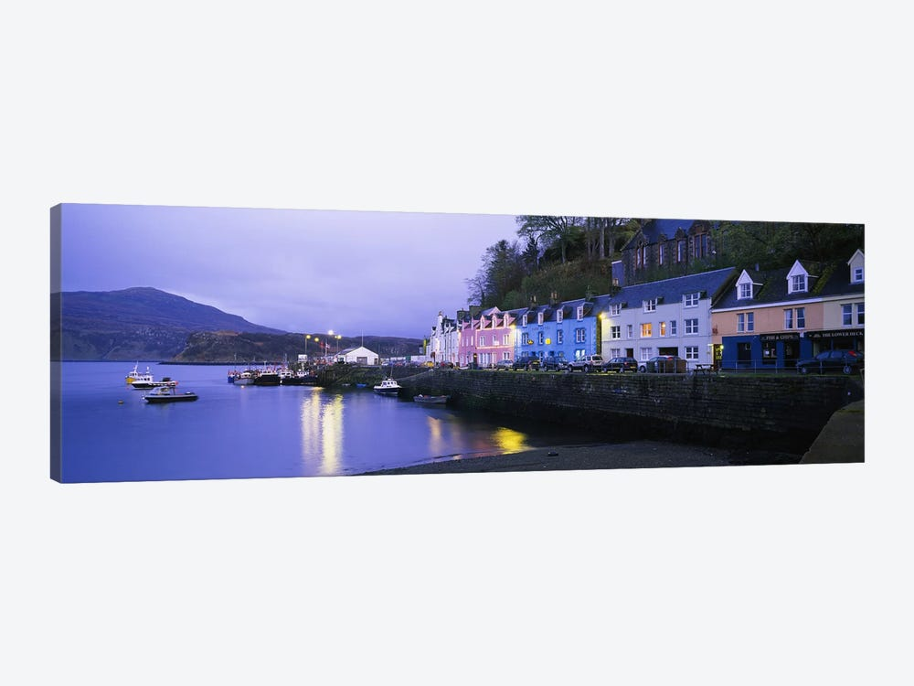 Portree Harbour, Isle Of Skye, Inner Hebrides, Scotland, United Kingdom 1-piece Canvas Print
