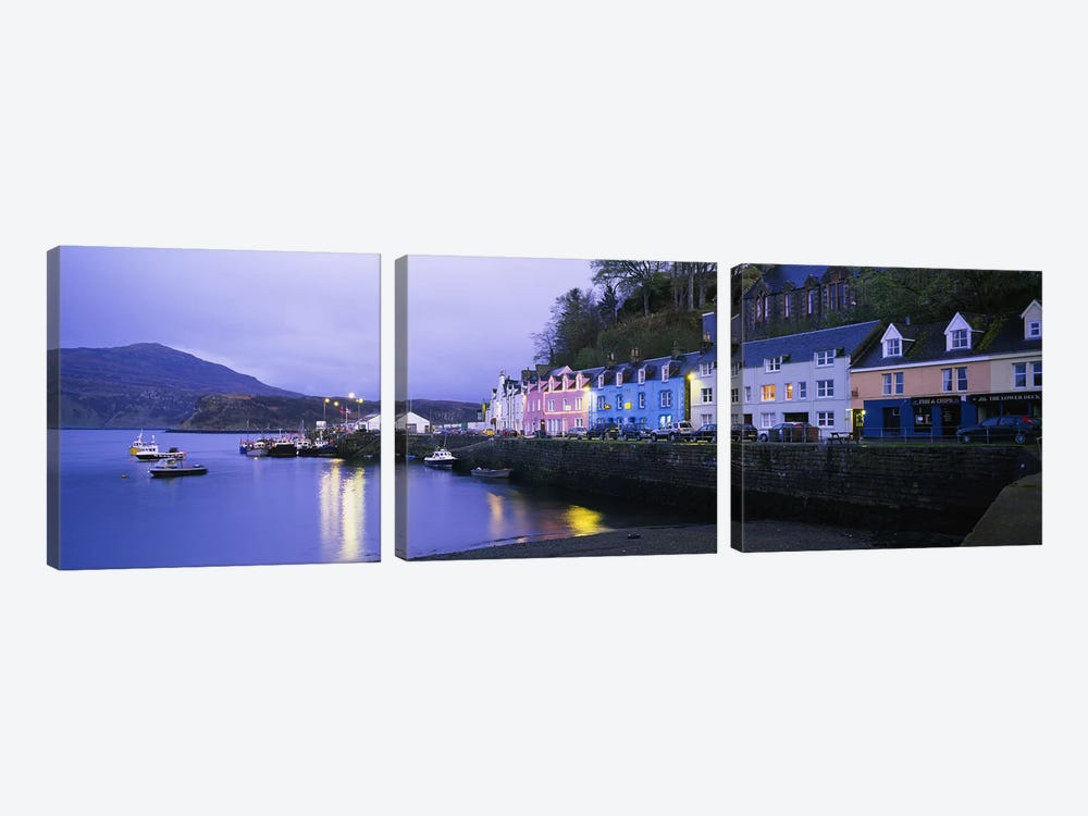 Portree Harbour, Isle Of Skye, Inner Hebrides, Scotland, United Kingdom by Panoramic Images 3-piece Canvas Print