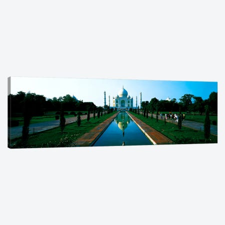 Taj Mahal Agra India Canvas Print #PIM478} by Panoramic Images Canvas Print