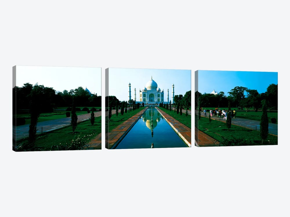 Taj Mahal Agra India by Panoramic Images 3-piece Canvas Art