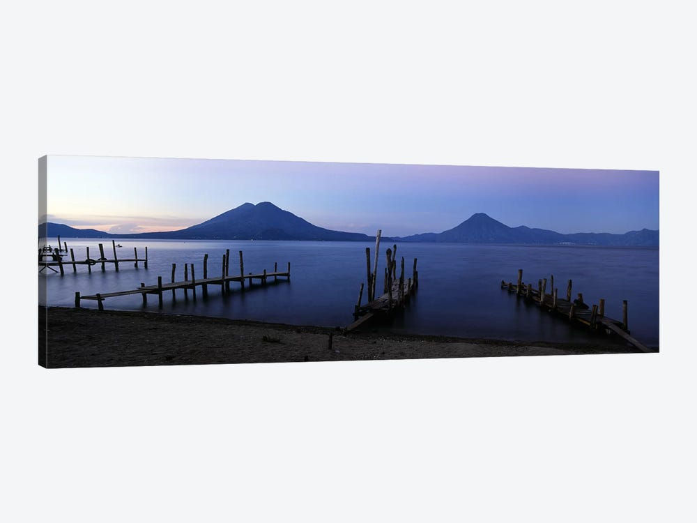 Crude Docks Along The Shore, Lake Atitlan, Solola, Guatemala by Panoramic Images 1-piece Art Print