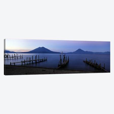 Crude Docks Along The Shore, Lake Atitlan, Solola, Guatemala Canvas Print #PIM4793} by Panoramic Images Canvas Print