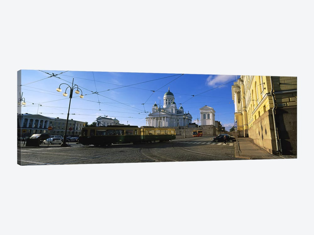 Tram Moving On A Road, Senate Square, Helsinki, Finland by Panoramic Images 1-piece Art Print