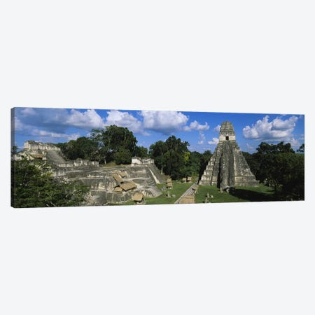 Ancient Ruins Of Yax Mutal (Tikal), El Peten, Guatemala Canvas Print #PIM4806} by Panoramic Images Canvas Artwork
