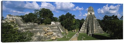 Ancient Ruins Of Yax Mutal (Tikal), El Peten, Guatemala Canvas Art Print