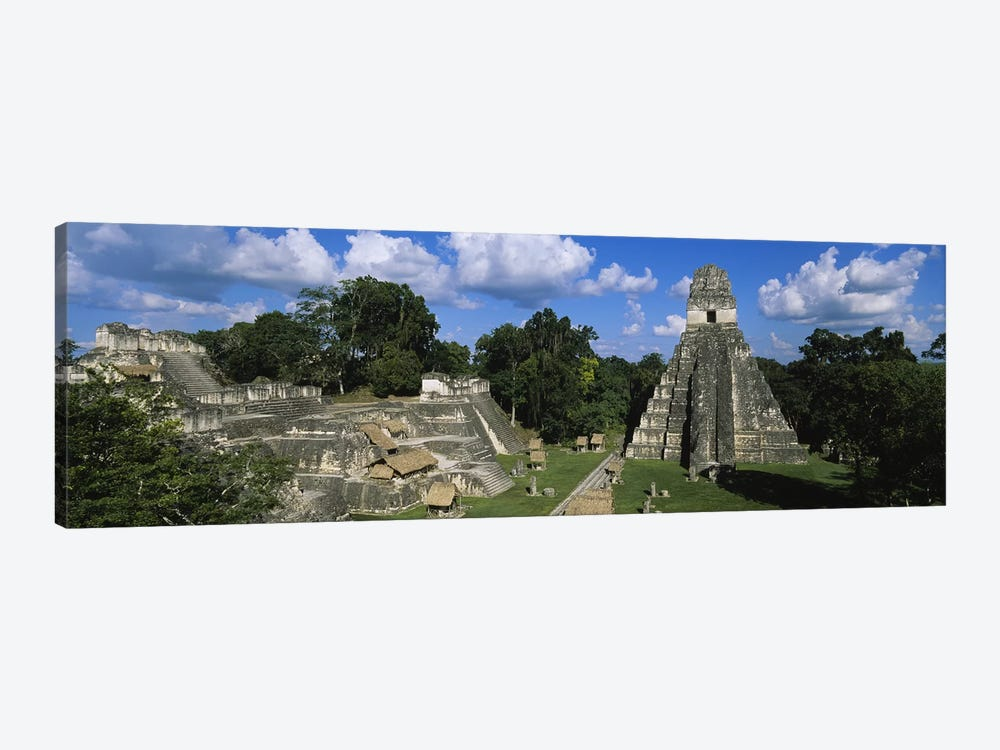 Ancient Ruins Of Yax Mutal (Tikal), El Peten, Guatemala 1-piece Canvas Art Print