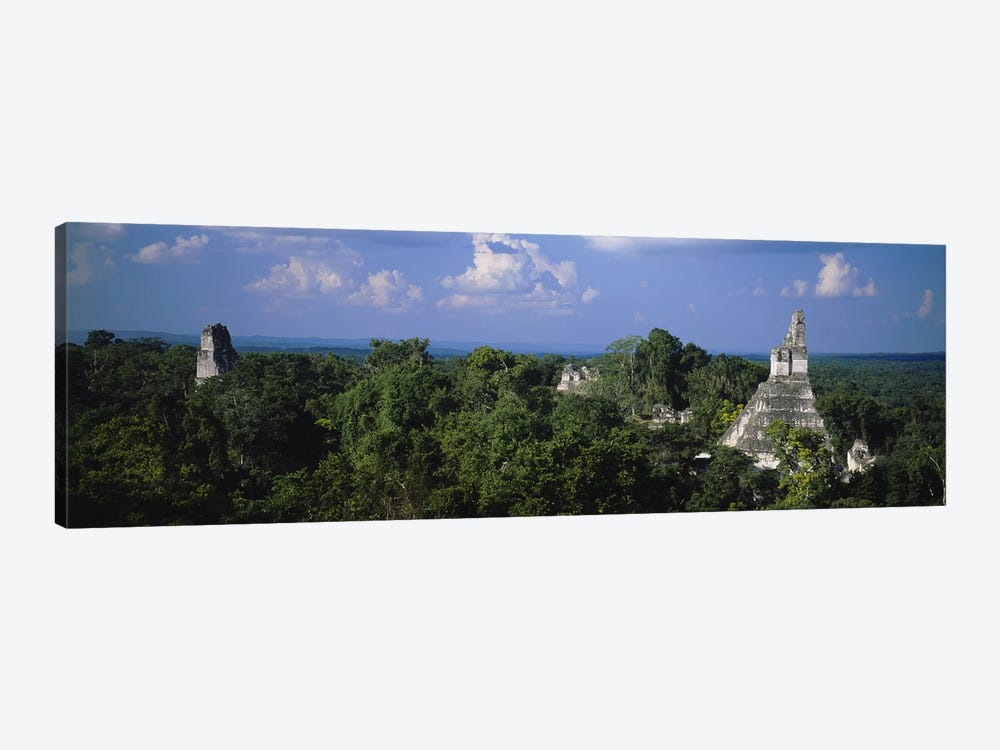 High-Angle View Of Temple I (Temple Of The Great Jaguar), Tikal, El Peten, Guatemala by Panoramic Images 1-piece Canvas Artwork