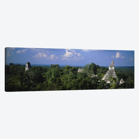 High-Angle View Of Temple I (Temple Of The Great Jaguar), Tikal, El Peten, Guatemala 3-Piece Canvas #PIM4807} by Panoramic Images Canvas Art