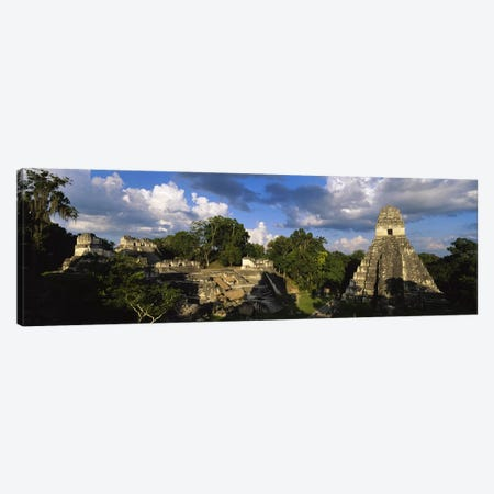 Shadows Over The Ancient Ruins Of Yax Mutal (Tikal), El Peten, Guatemala Canvas Print #PIM4808} by Panoramic Images Art Print
