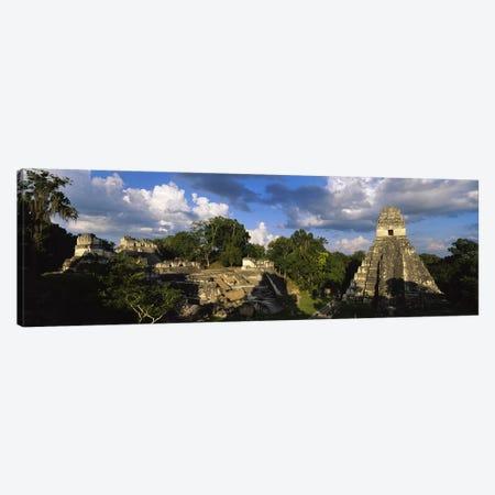 Shadows Over The Ancient Ruins Of Yax Mutal (Tikal), El Peten, Guatemala Canvas Print #PIM4808} by Panoramic Images Art Print