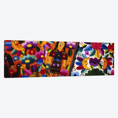 Close-Up Of Traditional Textiles, Guatemala Canvas Print #PIM4810} by Panoramic Images Canvas Artwork