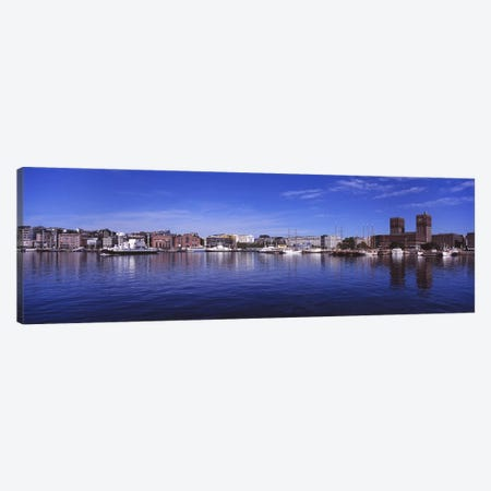 Waterfront Architecture, Oslo Harbor, Oslo, Ostlandet, Norway Canvas Print #PIM4811} by Panoramic Images Canvas Artwork
