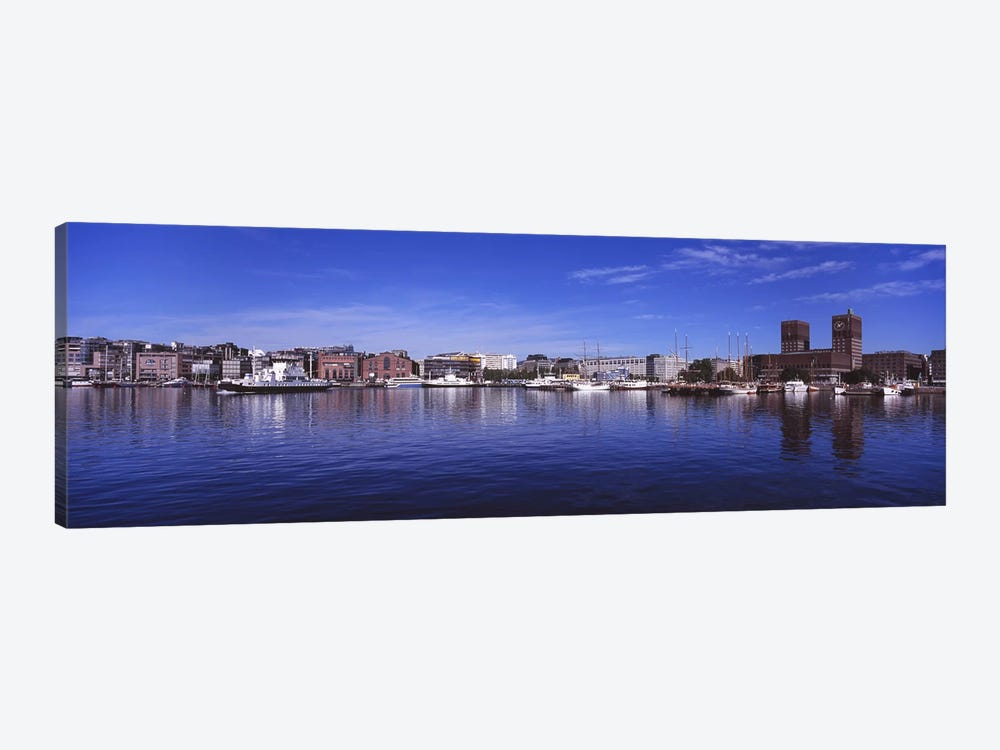 Waterfront Architecture, Oslo Harbor, Oslo, Ostlandet, Norway by Panoramic Images 1-piece Art Print