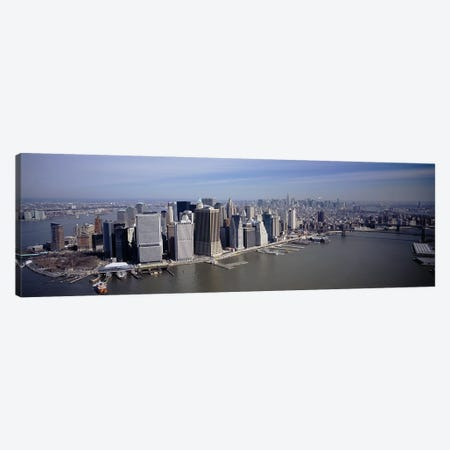 High Angle View Of Skyscrapers In A City, Manhattan, NYC, New York City, New York State, USA Canvas Print #PIM4831} by Panoramic Images Canvas Wall Art