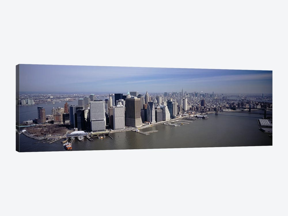 High Angle View Of Skyscrapers In A City, Manhattan, NYC, New York City, New York State, USA by Panoramic Images 1-piece Canvas Art Print