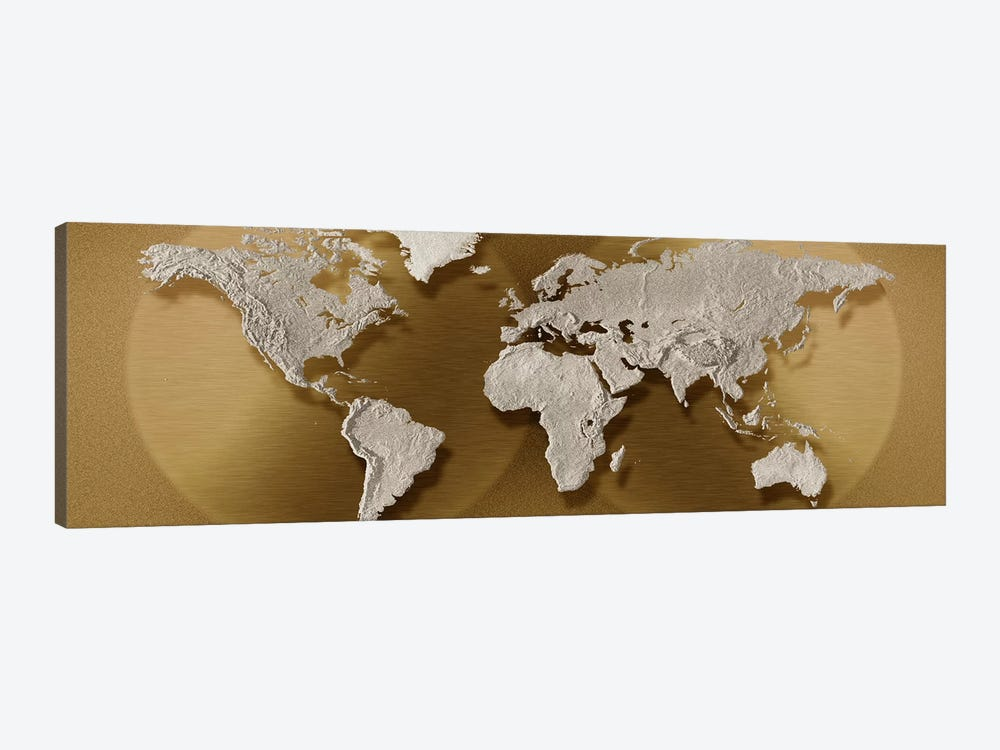 Close-up of a world map by Panoramic Images 1-piece Canvas Artwork