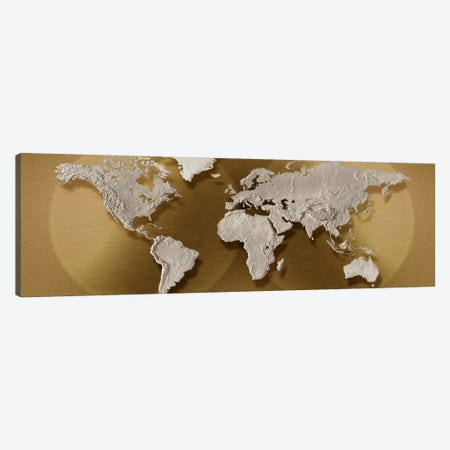 Close-up of a world map Canvas Print #PIM4836} by Panoramic Images Canvas Art Print