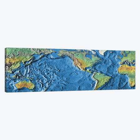 Close-up of a world map Canvas Print #PIM4838} by Panoramic Images Canvas Artwork