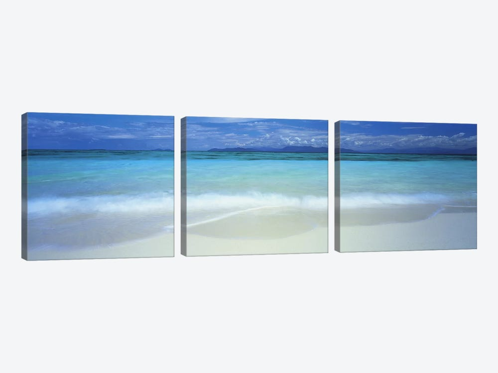 Clouds over an ocean, Great Barrier Reef, Queensland, Australia by Panoramic Images 3-piece Canvas Wall Art