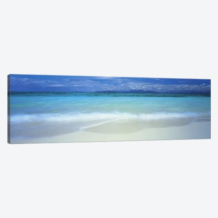 Clouds over an ocean, Great Barrier Reef, Queensland, Australia 3-Piece Canvas #PIM4845} by Panoramic Images Canvas Artwork