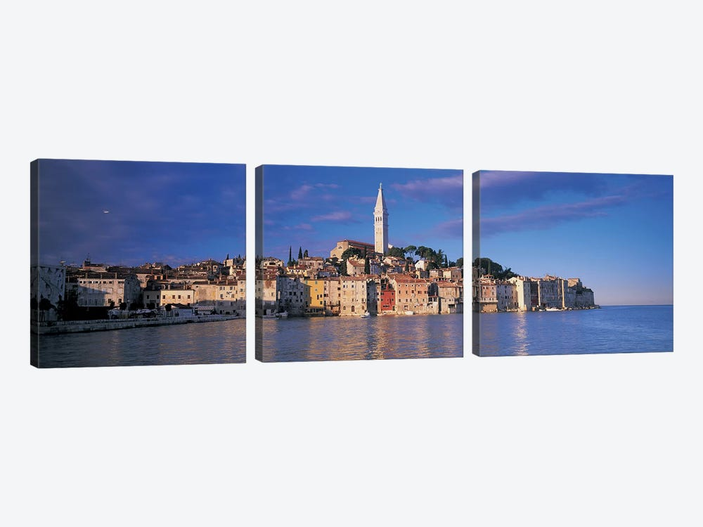 City on the waterfront, Rovinj, Croatia by Panoramic Images 3-piece Canvas Artwork