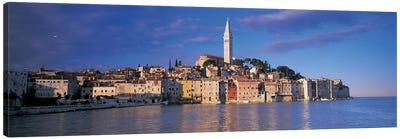 City on the waterfront, Rovinj, Croatia Canvas Art Print