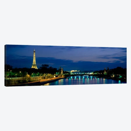 Pont Alexandre III, Seine, Paris, Ile-de-France, France Canvas Print #PIM484} by Panoramic Images Canvas Art Print