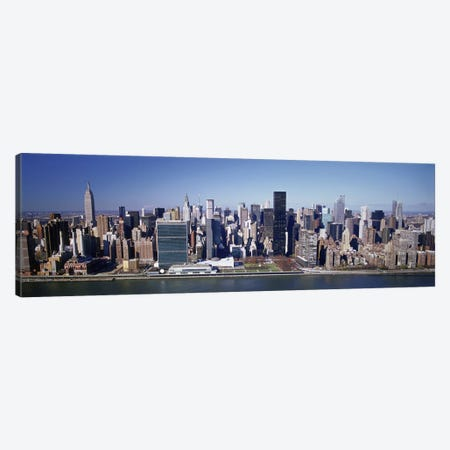 Buildings on the waterfront, Manhattan, New York City, New York State, USA Canvas Print #PIM4850} by Panoramic Images Canvas Wall Art