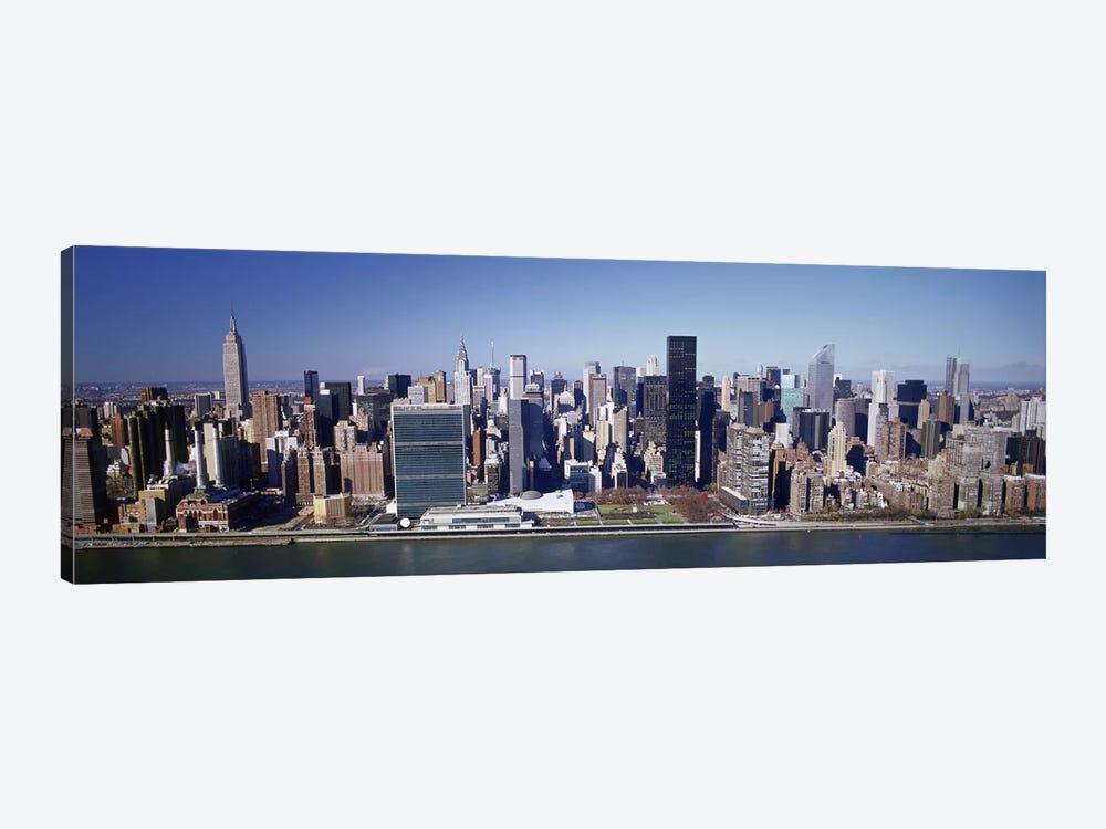 Buildings on the waterfront, Manhattan, New York City, New York State, USA by Panoramic Images 1-piece Canvas Wall Art