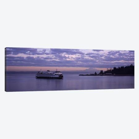 Ferry in the seaBainbridge Island, Seattle, Washington State, USA Canvas Print #PIM4851} by Panoramic Images Canvas Artwork