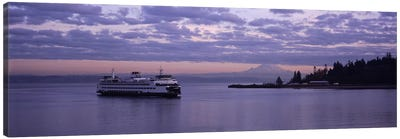 Ferry in the seaBainbridge Island, Seattle, Washington State, USA Canvas Art Print