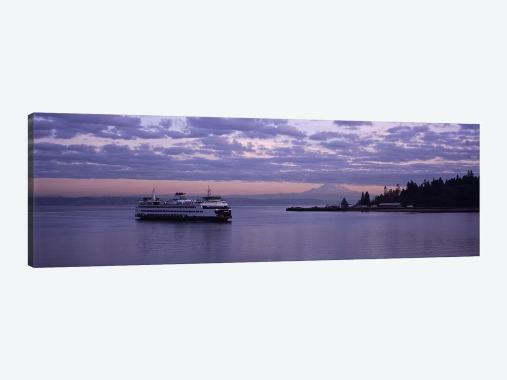 Ferry in the seaBainbridge Island, Seattle, Washington State, USA by Panoramic Images 1-piece Canvas Art Print