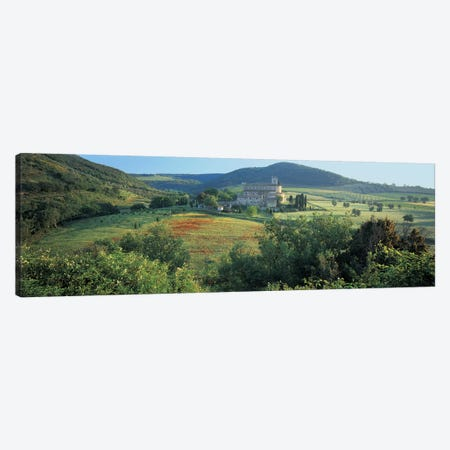 High angle view of a church, Abbazia di Sant'Antimo, Tuscany, Italy Canvas Print #PIM4856} by Panoramic Images Canvas Print