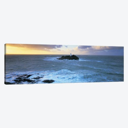 Godrevy Lighthouse, Godrevy Island, St Ives Bay, Cornwall, England, United Kingdom Canvas Print #PIM4857} by Panoramic Images Canvas Art Print