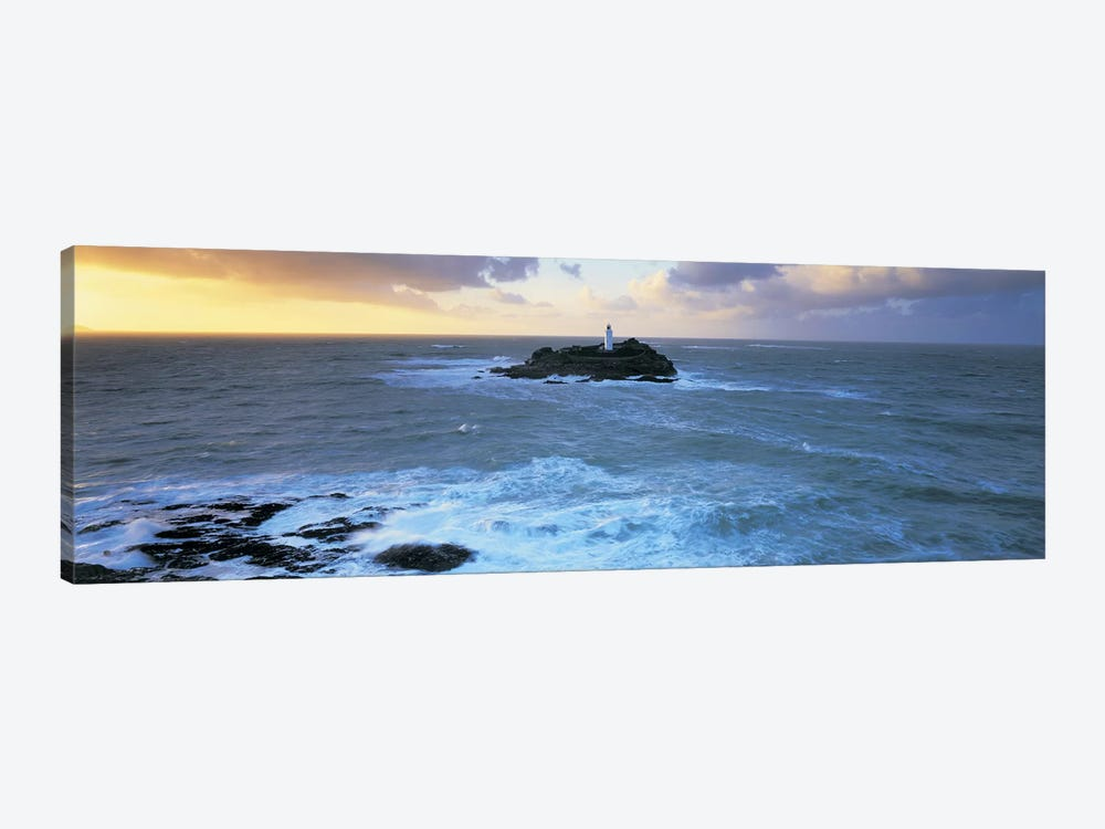 Godrevy Lighthouse, Godrevy Island, St Ives Bay, Cornwall, England, United Kingdom by Panoramic Images 1-piece Art Print