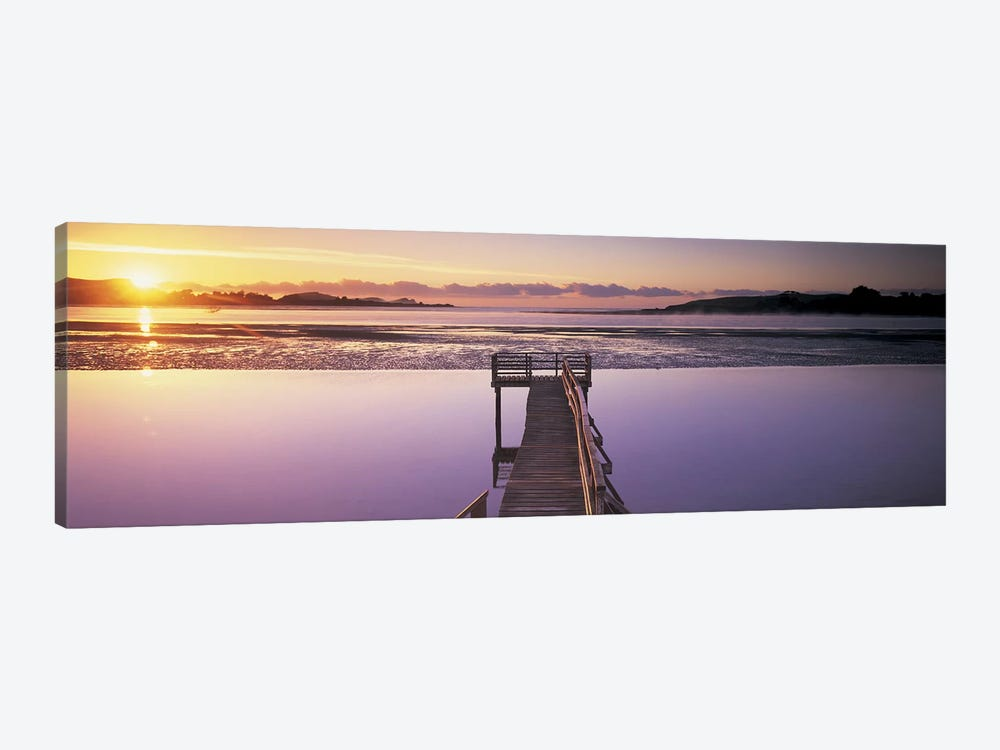 High angle view of a pier on a river, Pounawea, The Catlins, South Island New Zealand, New Zealand by Panoramic Images 1-piece Canvas Art