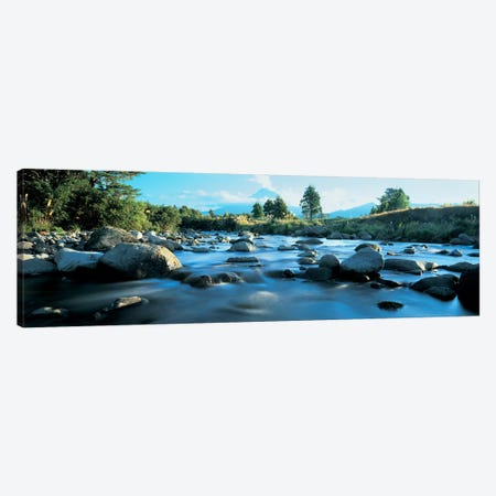 Rocks in the river, Mount Taranaki, Taranaki, North Island, New Zealand Canvas Print #PIM4859} by Panoramic Images Canvas Art