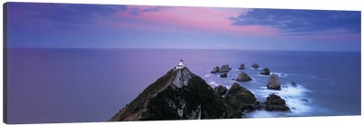 Nugget Point Lighthouse, Nugget Point, The Catlins, Otago, South Island, New Zealand Canvas Art Print