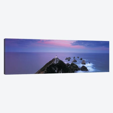 Nugget Point Lighthouse, Nugget Point, The Catlins, Otago, South Island, New Zealand 3-Piece Canvas #PIM4861} by Panoramic Images Canvas Print