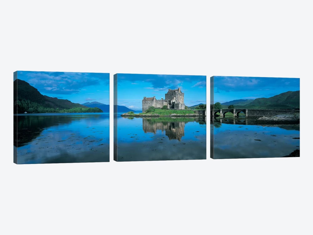 Eilean Donan Castle, Highland, Scotland, United Kingdom by Panoramic Images 3-piece Canvas Wall Art