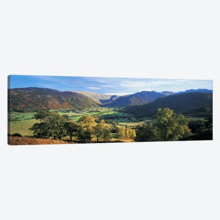 Valley Landscape, Borrowdale, Lake District, Cumbria, England, United Kingdom Canvas Print #PIM4868} by Panoramic Images Canvas Print