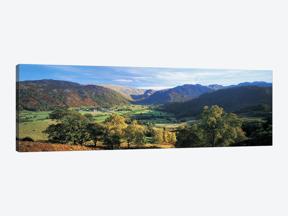 Valley Landscape, Borrowdale, Lake District, Cumbria, England, United Kingdom by Panoramic Images 1-piece Canvas Print