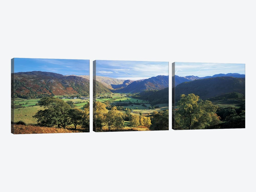 Valley Landscape, Borrowdale, Lake District, Cumbria, England, United Kingdom by Panoramic Images 3-piece Art Print