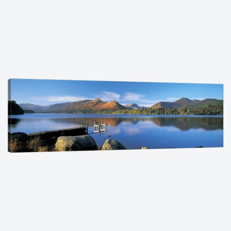 Mountain Reflections, Derwentwater, Lake District National Park, Cumbria, England, United Kingdom Canvas Print #PIM4869} by Panoramic Images Art Print
