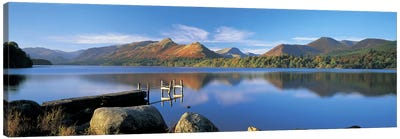 Mountain Reflections, Derwentwater, Lake District National Park, Cumbria, England, United Kingdom Canvas Print #PIM4869