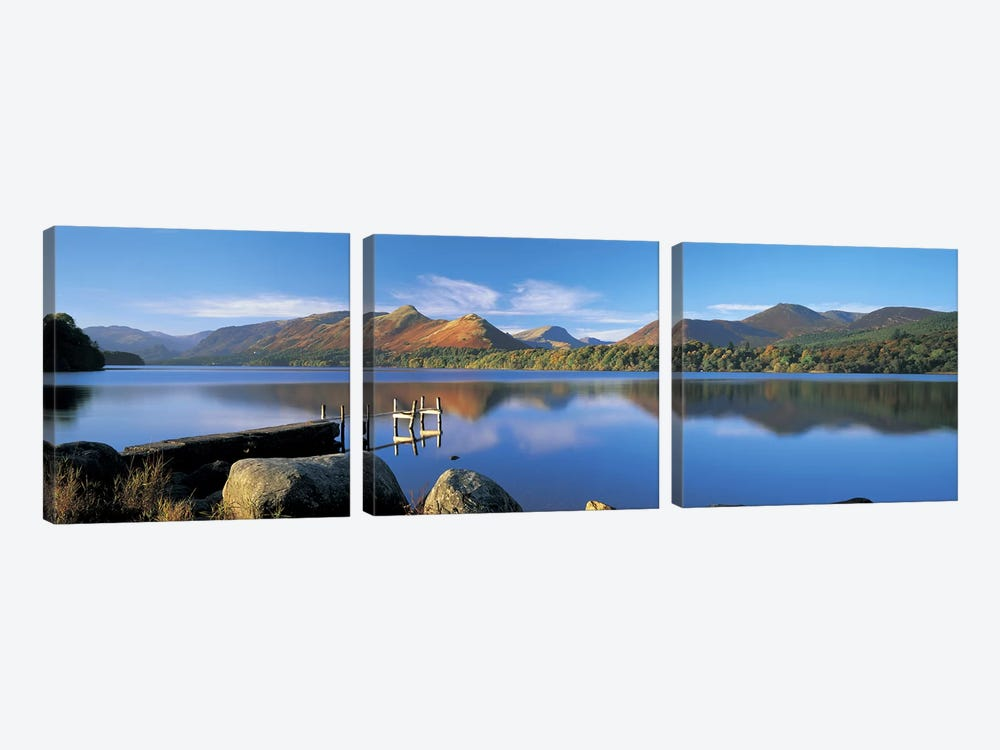 Mountain Reflections, Derwentwater, Lake District National Park, Cumbria, England, United Kingdom by Panoramic Images 3-piece Canvas Artwork